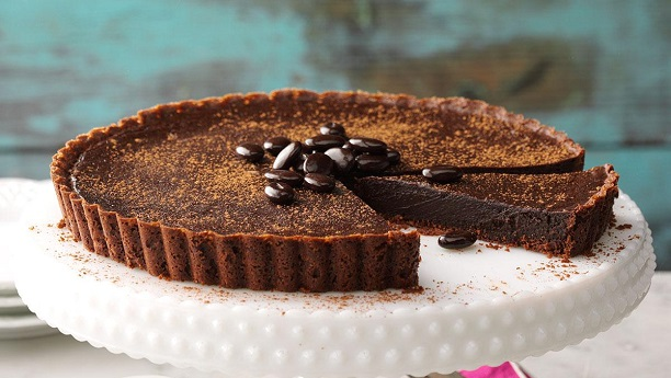 Persian Chocolate Truffle Tart