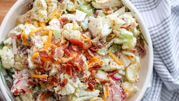Phool Gobhi Salad By Chef Fauzia Recipe
