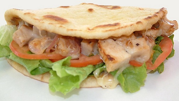 Pita With Chicken Sandwich