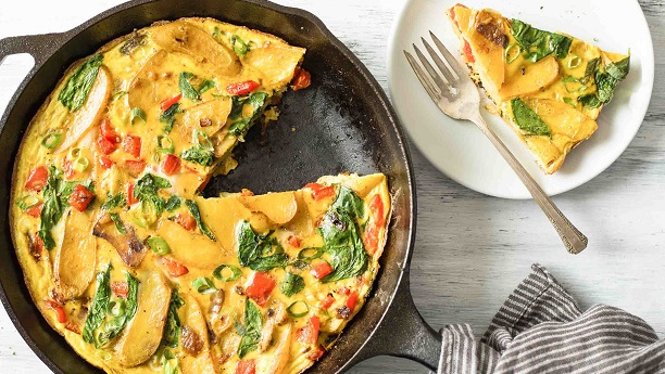 Potato & Red Pepper Frittata