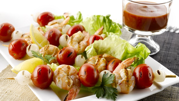Prawn Skewers With Tomato Salsa
