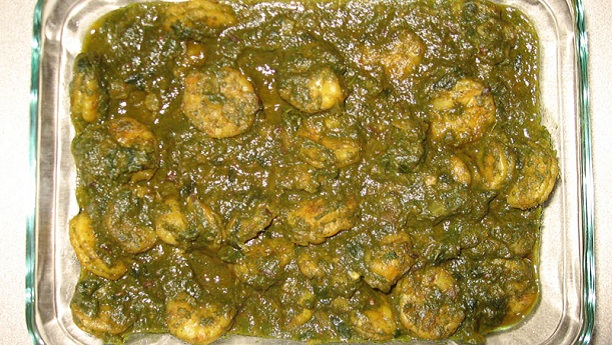 Prawns With Green Masala