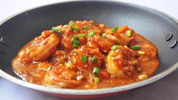 Prawns with Ginger Sauce