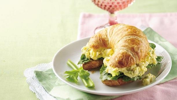 Ranch Egg Salad Croissant Sandwiches