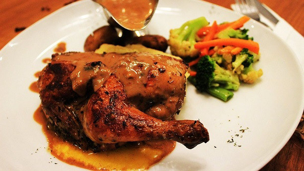 Roast Chicken With Brown Sauce
