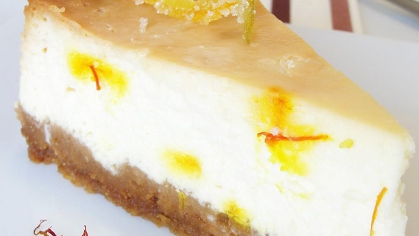 Saffron & Lemon Srikhand Cheesecake