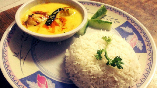 Simple Kadi Chawal