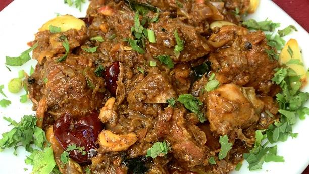South Indian Mutton Fry Masala Recipe