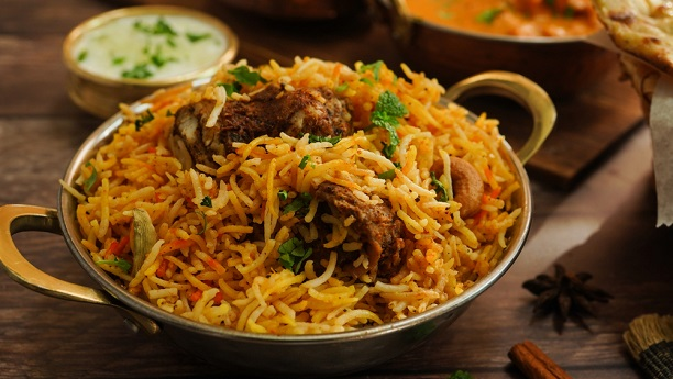 Spicy Mutton Tikka Biryani