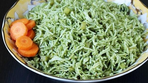 Spinach Biryani Recipe