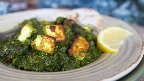 Spinach with Paneer (Saag Paneer) Recipe