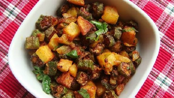 Stir-Fried Okra with Potato