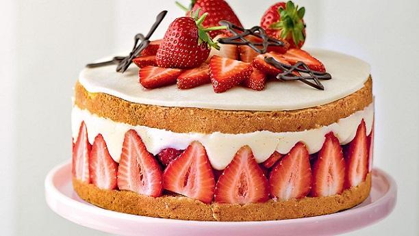 Strawberry Cream Tea Cake