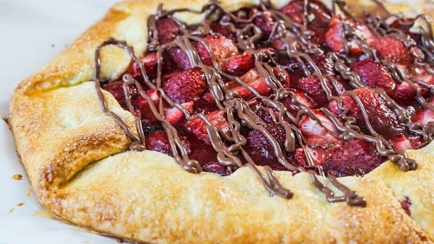 Strawberry Nutella Pie Full Recipe