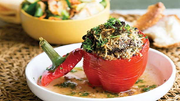 Stuffed Capsicum salad Recipe