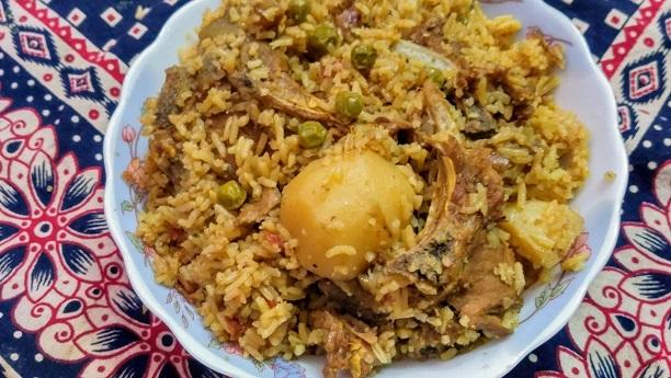 Tala Gosht Natar Rice