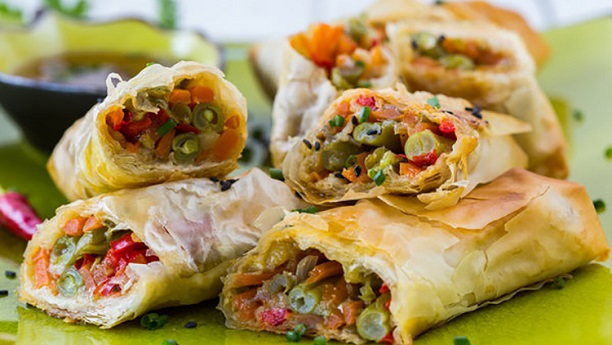 Vegetable Spring Roll by Chef Fauzia