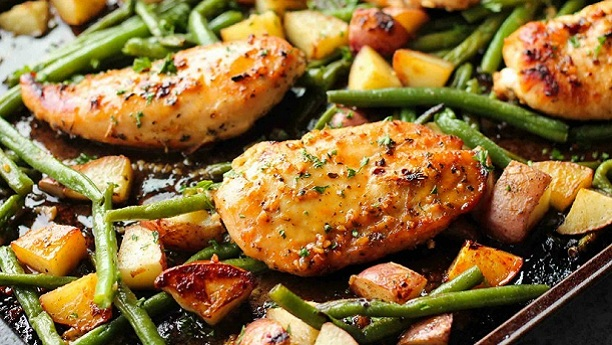 Vegetables Garlic Chicken