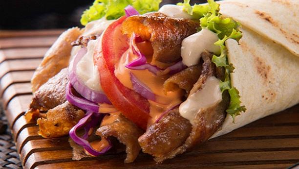 Vegetarian Doner Kebab Wrap