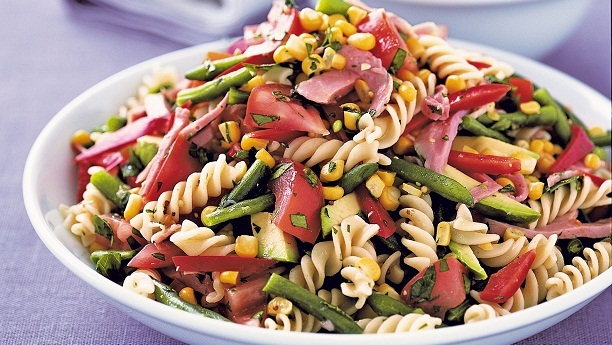 Warm Pasta And Salami Salad