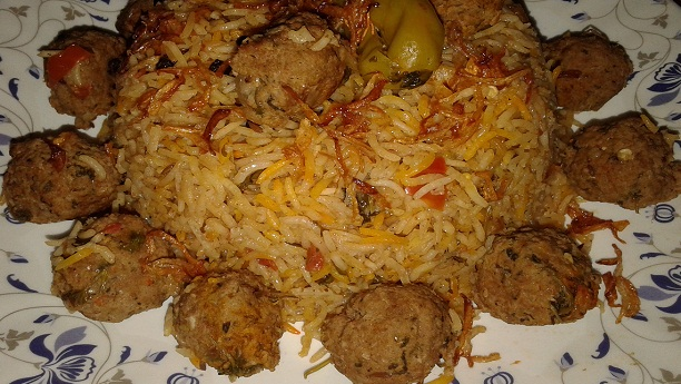 arab kofta pulao Recipe