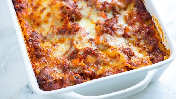 Beef Lasagna with White Truffle Oil