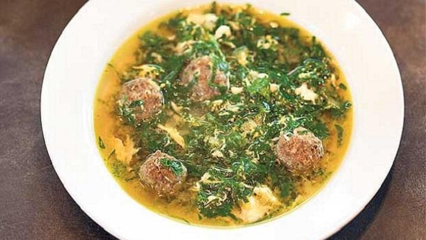 بیف اور پالک کا سوپ