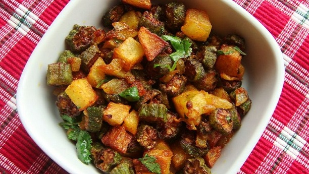 Bhindi Masala With Potato