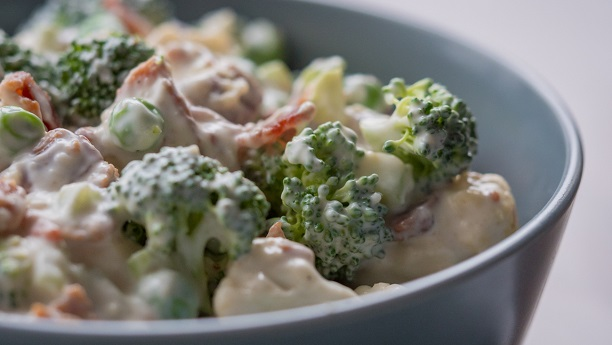 Broccoli and Cauliflower Salad By Chef Fauzia