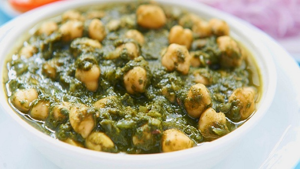 Chana palak by Chef Mehboob