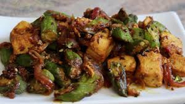 Chili Chicken Bhindi