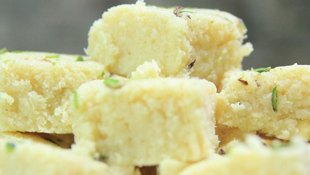 Coconut Pistachio Sweetmeat by Chef Madhur Jaffrey
