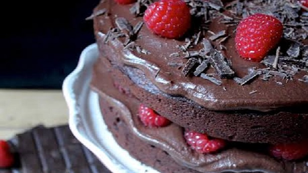 Double Chocolate & Raspberry Cake
