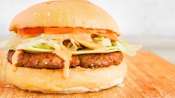 Fiery Thick Cheese Burger
