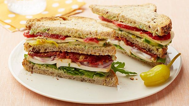 Meatless Club Sandwich