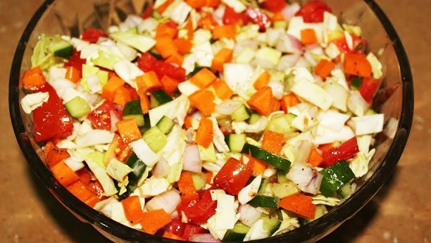 Mixed Vegetable Salad By Chef Fauzia