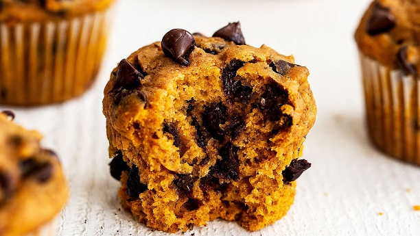 Orange And Chocolate Chip Muffins by Ammara Noman