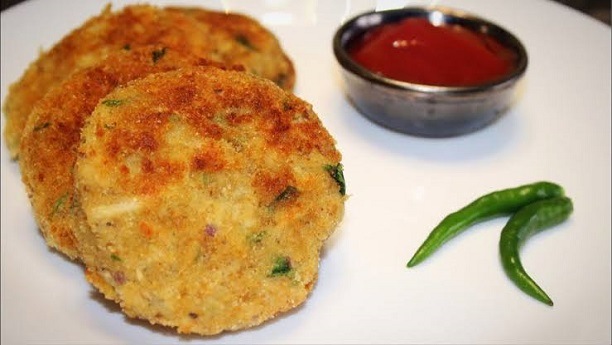 Potato and Chinken Cutlets