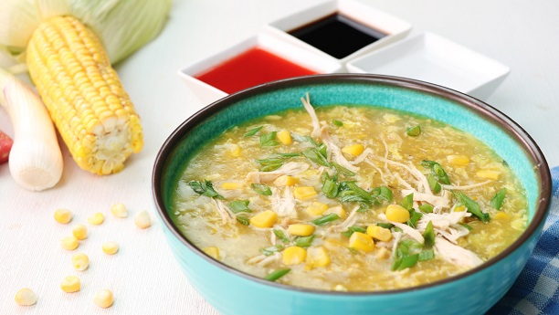 Quick Chicken Corn Soup
