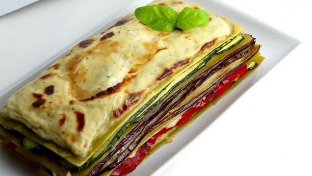 Raw Vegetable Lasagna by Chef Jawad Munshi