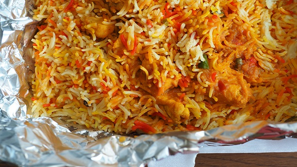 Rice Cooked in Foil