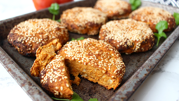 Sesame Potato Cutlets by Adeel Khan