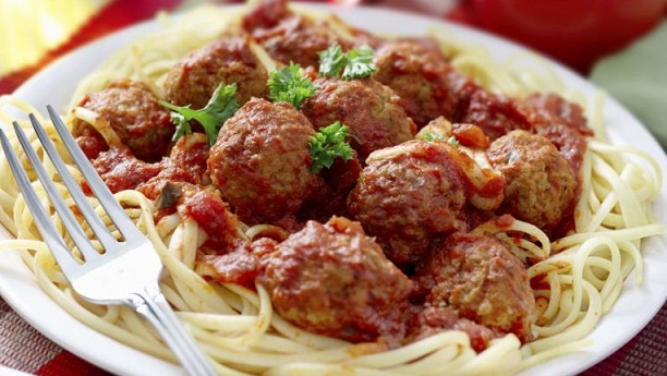 Spaghetti with Fish MeatBalls