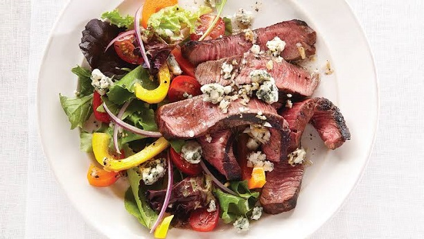 Steak and Pepper Roasted Salad By Chef Fauzia