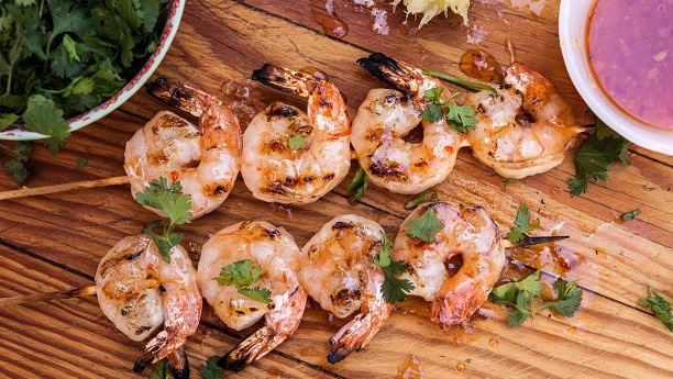 Thai Grilled Prawn With Chili Sauce
