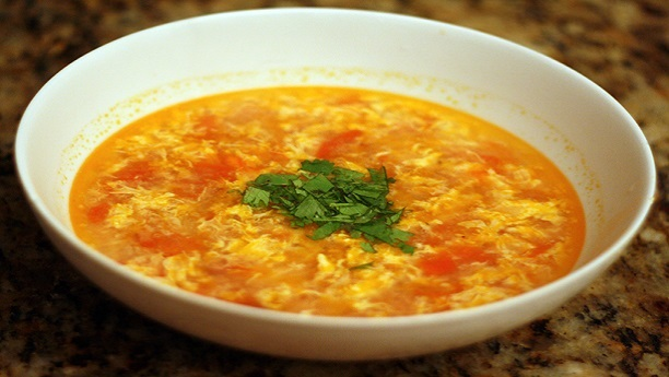 Tomato Egg Drop Soup Recipe Soup Recipes In English