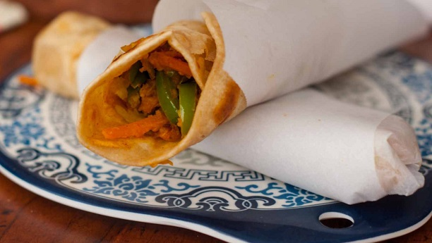 Vegetable Paratha Roll