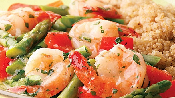 Vegetable prawns