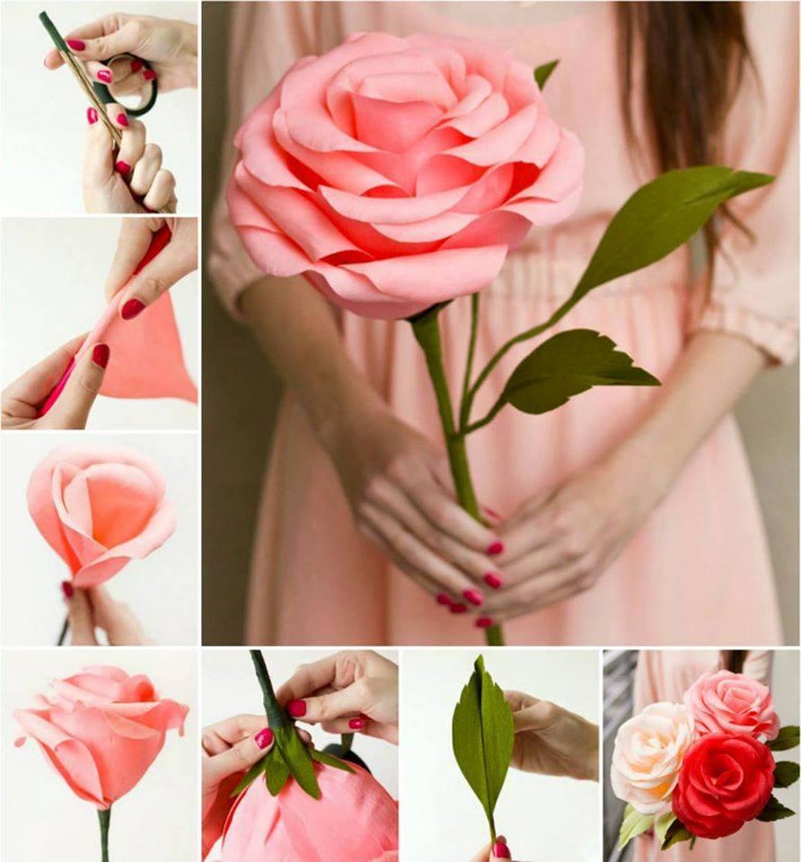 Цветы большие из бумаги гофрированной своими руками