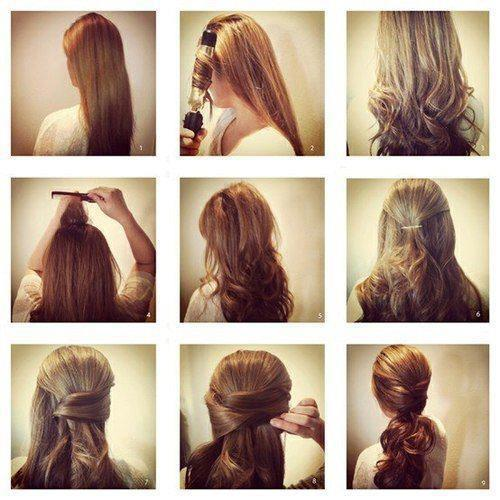Step by Step Hairstyle for School Girls